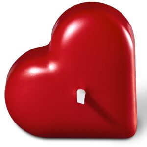 17 sch herz 15 26 000 v1 sml 300x300 - 1 x große Herzkerze Trend 60 x 130 mm Farbe rubin