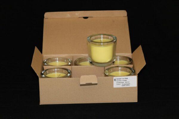 img 1082 min 600x400 - 6 x Wenzel Kerze im Glas Farbe pastellgelb