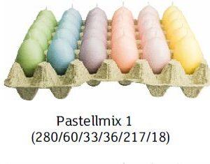 pastellmix 1 300x235 - Steige mit 30 x Ostereierkerzen Pastellmix II
