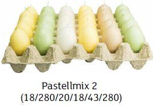 pastellmix 2 300x217 - Steige mit 30 x Ostereierkerzen Pastellmix II