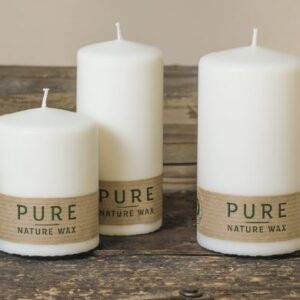pure 300x300 - 12 x Pure nachhaltige Kerze Größe 130x60 mm Safe Candle Ausführung