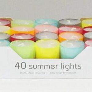 summerlights 002 300x300 - 12 Teelichte Farbe rubin